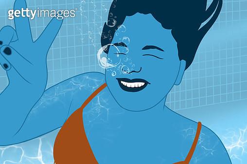 Under water smile - gettyimageskorea