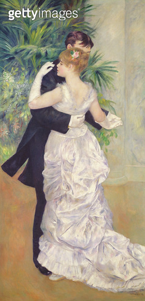 <b>Title</b> : Dance in the City, 1883 (oil on canvas)<br><b>Medium</b> : oil on canvas<br><b>Location</b> : Musee d'Orsay, Paris, France<br> - gettyimageskorea