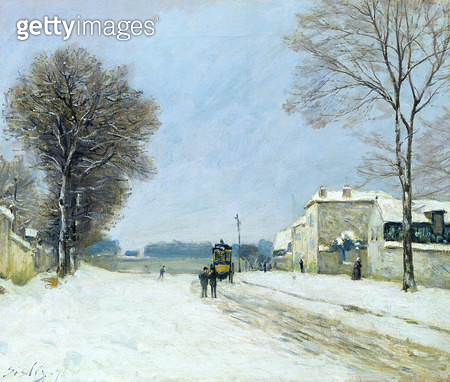 <b>Title</b> : Winter, Snow Effect, 1876 (oil on canvas)<br><b>Medium</b> : oil on canvas<br><b>Location</b> : Musee des Beaux-Arts, Lille, France<br> - gettyimageskorea