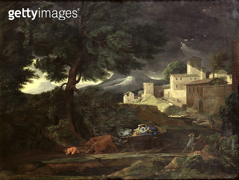 <b>Title</b> : The Storm (oil on canvas)<br><b>Medium</b> : oil on canvas<br><b>Location</b> : Musee des Beaux-Arts, Rouen, France<br> - gettyimageskorea