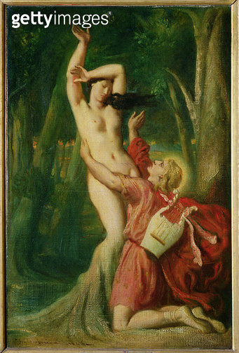 <b>Title</b> : Apollo and Daphne, c.1845 (oil on canvas)<br><b>Medium</b> : oil on canvas<br><b>Location</b> : Louvre, Paris, France<br> - gettyimageskorea