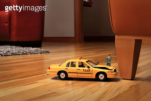 Taxi car crashed into furniture - gettyimageskorea