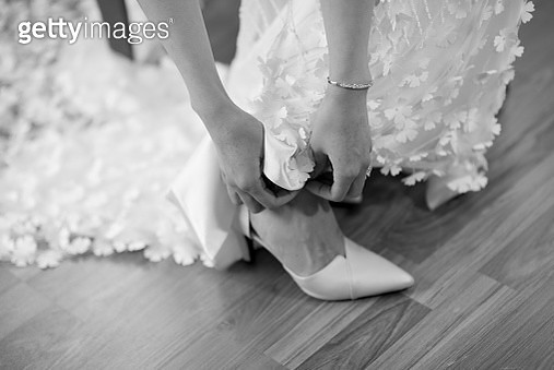 Low Section Of Woman With High Heels - gettyimageskorea