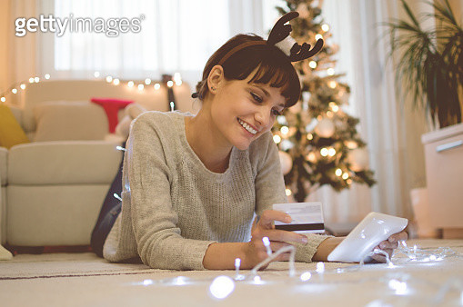 Christmas shopping at home - gettyimageskorea