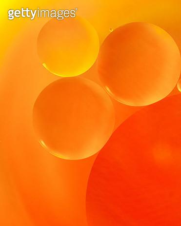 Full Frame Shot Of Orange Bubbles - gettyimageskorea
