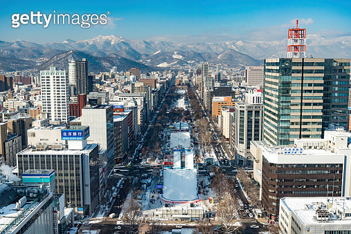 view from Sapporo Tv Tower over Sapporo - gettyimageskorea