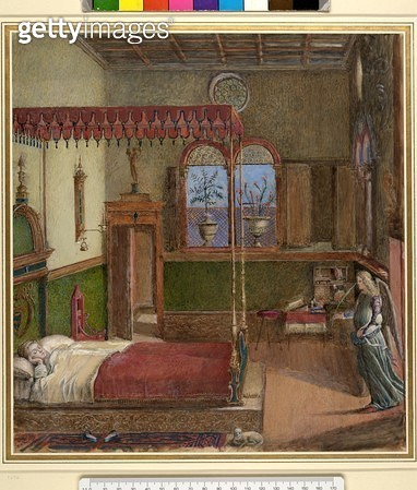 <b>Title</b> : The Dream of St. Ursula, after Carpaccio (gouache on paper) (see also 686)<br><b>Medium</b> : <br><b>Location</b> : Ashmolean Museum, University of Oxford, UK<br> - gettyimageskorea