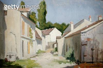 <b>Title</b> : Le Clos des Abbesses, Yerres, Essonne, before 1879 (oil on canvas)<br><b>Medium</b> : oil on canvas<br><b>Location</b> : Private Collection<br> - gettyimageskorea