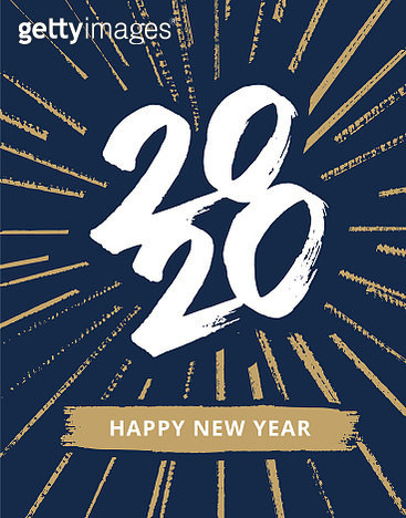 New year typography 2020. New year's eve 2020 greeting card.  You can edit the colors or sizes easily if you have Adobe Illustrator or other vector software. All shapes are vector - gettyimageskorea