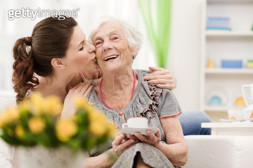 Loving granddaughter - gettyimageskorea