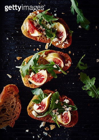 Directly above shot of healthy open faced sandwich - gettyimageskorea
