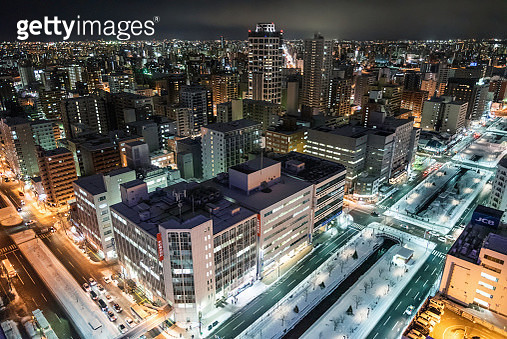 night view over Sapporo - gettyimageskorea
