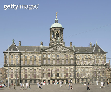 <b>Title</b> : Royal Palace in the Dam (photo)Additional Infodesigned by Jacob van Campen (1595-1657); built 1648-65) as the city hall; 1808 Na<br><b>Medium</b> : <br><b>Location</b> : Amsterdam, The Netherlands<br> - gettyimageskorea