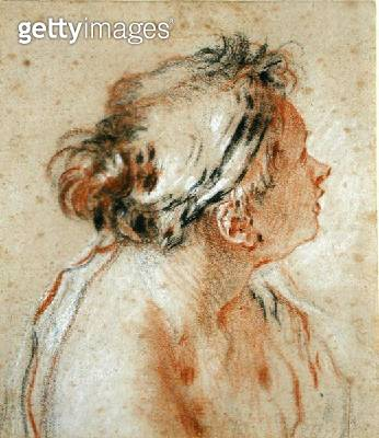 <b>Title</b> : Head of a Nymph (black, white and red chalk on light brown paper)<br><b>Medium</b> : black, white and red chalk brown paper<br><b>Location</b> : Private Collection<br> - gettyimageskorea