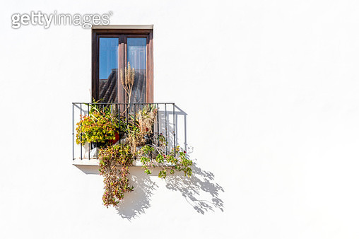 Beautiful balcony with typical plants - gettyimageskorea