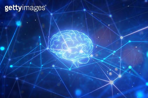 Artificial intelligence brain in network - gettyimageskorea