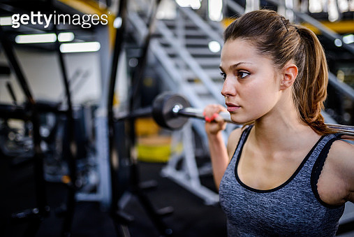Beautiful woman doing squats - gettyimageskorea