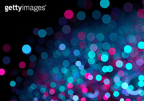 Abstract pink and blue spotted bokeh background - gettyimageskorea