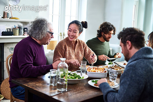 Extended family having meal together - gettyimageskorea