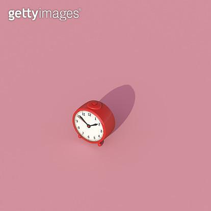 alarm clock on pink background - gettyimageskorea
