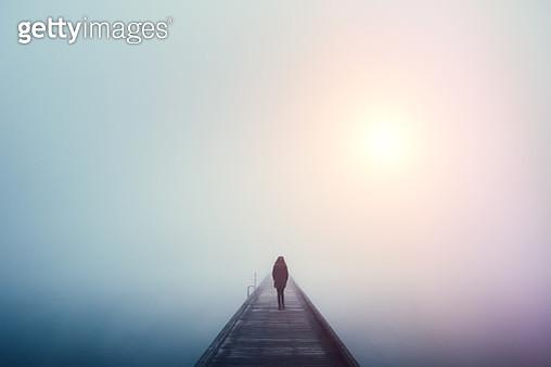 Crossing The Bridge - gettyimageskorea