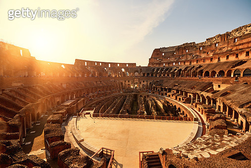 Colliseum in the sunset - gettyimageskorea