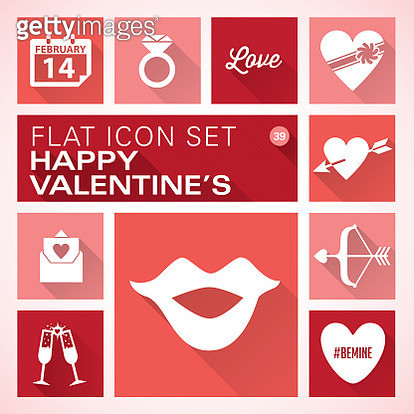 Flat icons 39 Valentine's Day - gettyimageskorea