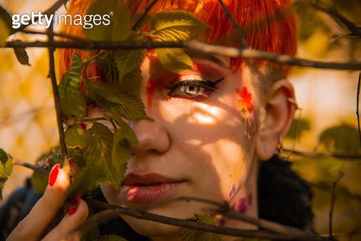 Close-Up Portrait Of A Woman - gettyimageskorea