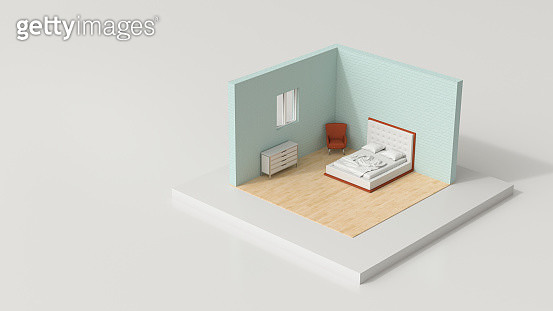 tiny world,  bedroom - gettyimageskorea