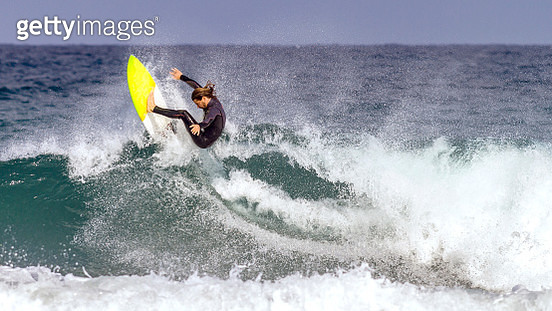 Surfing in the Mediterranean Sea - gettyimageskorea