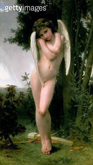 <b>Title</b> : Cupidon, 1891 (oil on canvas)<br><b>Medium</b> : oil on canvas<br><b>Location</b> : Roy Miles Fine Paintings<br> - gettyimageskorea