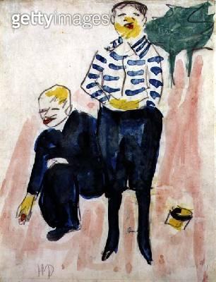 Couple/ c.1910 (w/c on paper) - gettyimageskorea