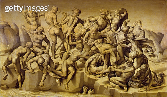 <b>Title</b> : The Battle of Cascina, or The Bathers, after Michelangelo (1475-1564), 1542 (oil on panel)Additional Info1504 Michelangelo given<br><b>Medium</b> : oil on panel<br><b>Location</b> : Collection of the Earl of Leicester, Holkham Hall, Norfolk - gettyimageskorea
