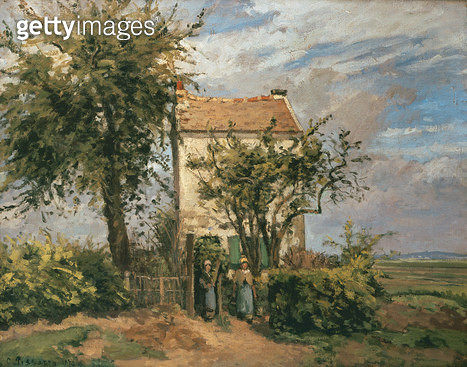 <b>Title</b> : The Road to Rueil (oil on canvas)<br><b>Medium</b> : oil on canvas<br><b>Location</b> : Private Collection<br> - gettyimageskorea