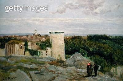 <b>Title</b> : Castle of Falaise, c.1846 (oil on canvas)Additional InfoLe Chateau de la Falaise;<br><b>Medium</b> : oil on canvas<br><b>Location</b> : Private Collection<br> - gettyimageskorea
