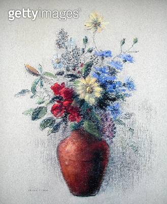 <b>Title</b> : Flowers (pastel on paper)<br><b>Medium</b> : pastel on paper<br><b>Location</b> : Private Collection<br> - gettyimageskorea