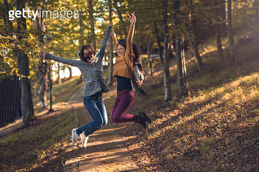 Jump of happiness - gettyimageskorea