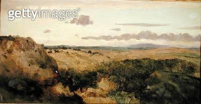 Mountain Landscape/ c.1855-60 (oil on canvas) - gettyimageskorea