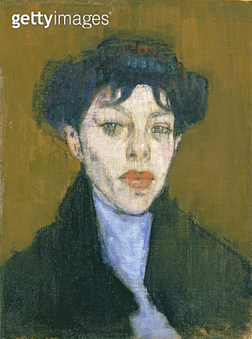<b>Title</b> : Woman with a Blue Scarf, c.1912 (oil on canvas)<br><b>Medium</b> : oil on canvas<br><b>Location</b> : Private Collection<br> - gettyimageskorea
