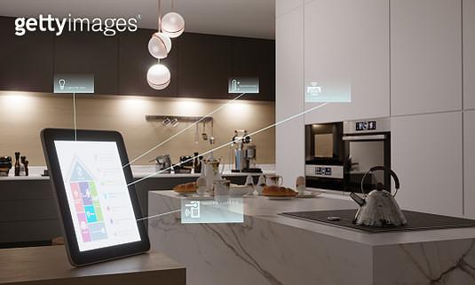 Smart Home Control In Kitchen - gettyimageskorea