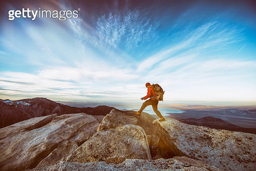 Hiking to the summit - gettyimageskorea