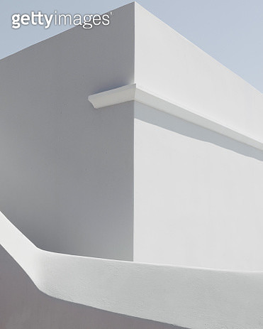 Low Angle View Of White Building Against Sky - gettyimageskorea