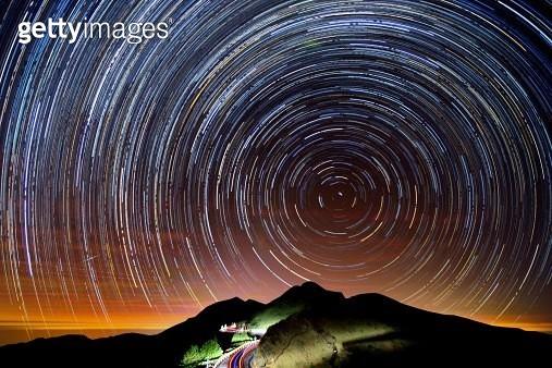 Star trails at Mt. Hehuan - gettyimageskorea