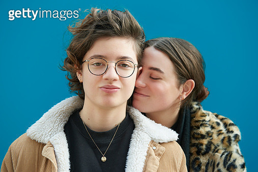 Portrait of young couple. - gettyimageskorea