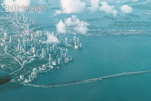 미국, 플로리다, 마이애미, 풍경, 공중 촬영 - gettyimageskorea