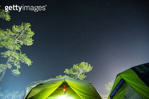 Camping under the star - gettyimageskorea