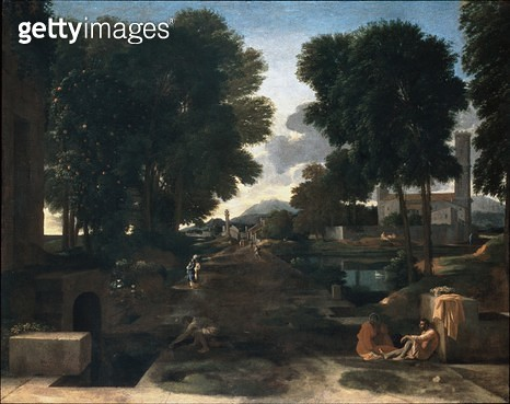 <b>Title</b> : A Roman Road (oil on canvas)<br><b>Medium</b> : oil on canvas<br><b>Location</b> : Dulwich Picture Gallery, London, UK<br> - gettyimageskorea