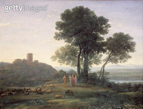<b>Title</b> : Jacob with Laban and his daughters<br><b>Medium</b> : <br><b>Location</b> : Dulwich Picture Gallery, London, UK<br> - gettyimageskorea