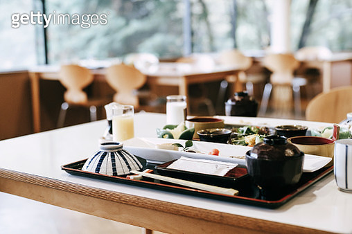 Delicate Japanese style meal freshly served on the table in a traditional restaurant - gettyimageskorea