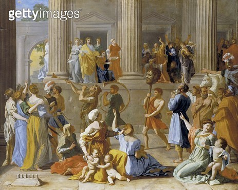 <b>Title</b> : The Triumph of David, c.1631-3 (oil on canvas)Additional Infohead of Philistine giant Goliath;<br><b>Medium</b> : oil on canvas<br><b>Location</b> : Dulwich Picture Gallery, London, UK<br> - gettyimageskorea
